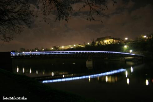 mali dravski most zvecer